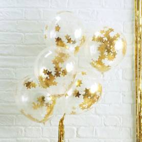 Palloncini con stelline oro
