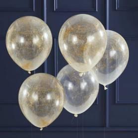 Palloncini con fili in oro