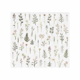 Tovaglioli di carta piante e fiori