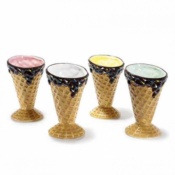 Coppetta/ciotola di ceramica colorata a cono gelato