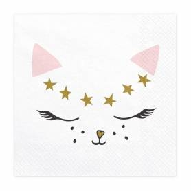Tovaglioli di carta gatto bianco