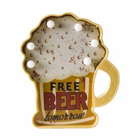 Placca 'free Beer' Con Led
