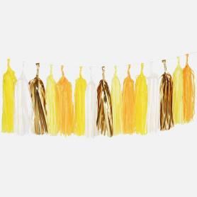 Festone nappine carta giallo oro