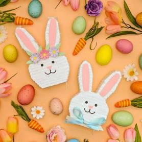 Set pignatta coppia di conigli