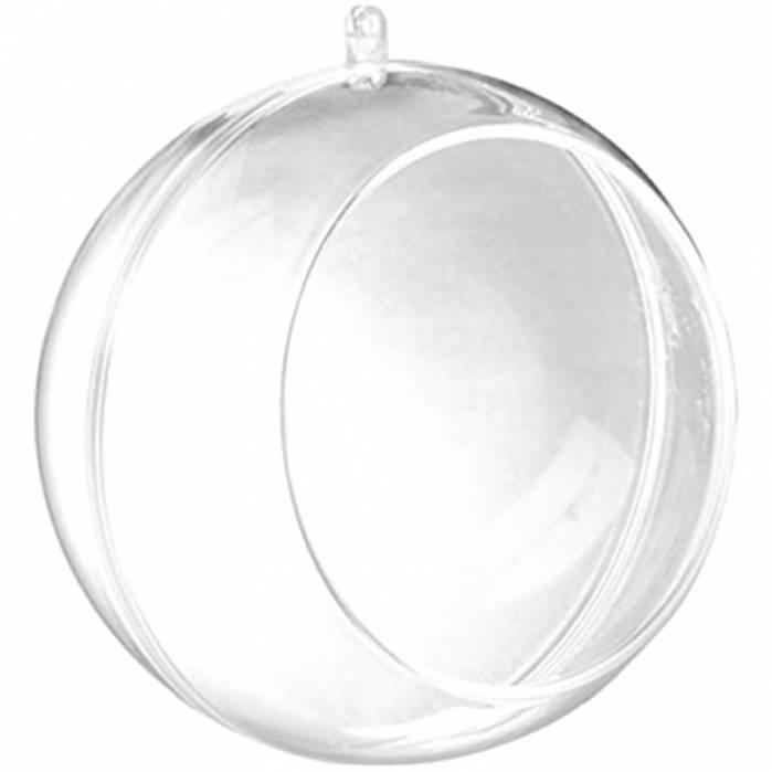 Pallina trasparente in plexiglass con finestra