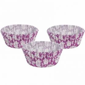 Pirottini in carta fantasia rose viola