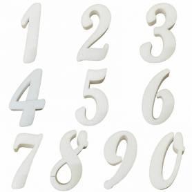 Numeri in polistirolo corsivo