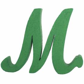 Lettera in polistirolo verde