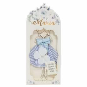 tavoletta quadro angelo con vestito e fiore