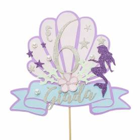 Cake topper sirena personalizzato