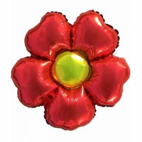 palloncino a forma di fiore rosso