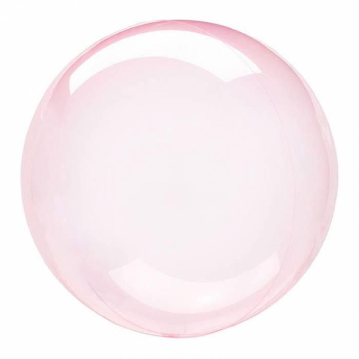 Palloncino trasparente bubble rosa 61 cm