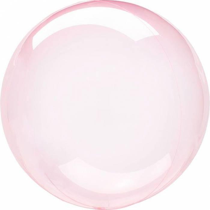 Palloncino trasparente bubble rosa gigante