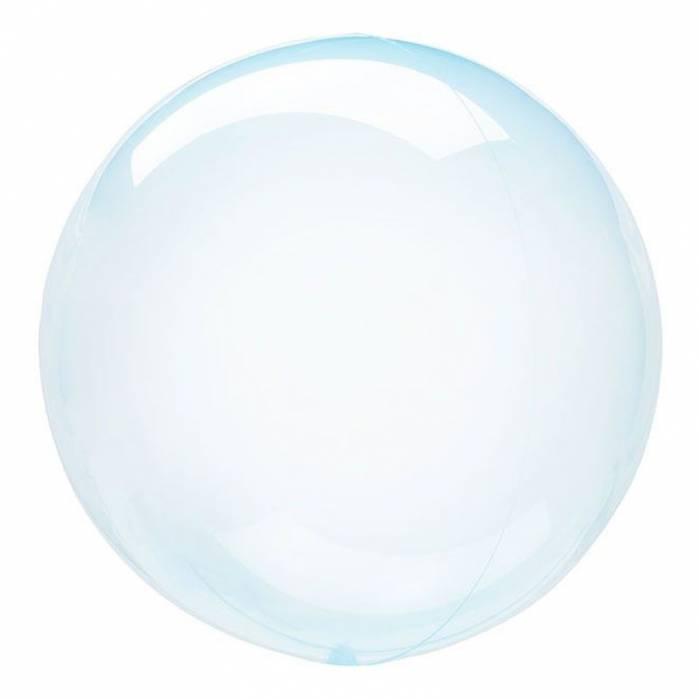 Palloncino bubble celeste trasparente 61cm