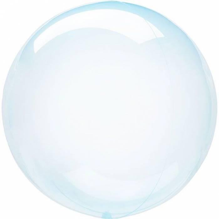 Palloncino bubble celeste trasparente 91cm