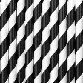 Cannucce in carta righe bianco e nero