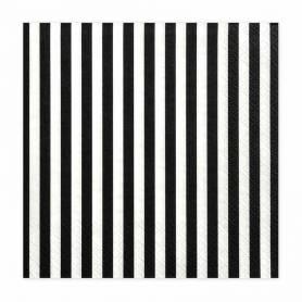 Tovaglioli righe bianco e nero