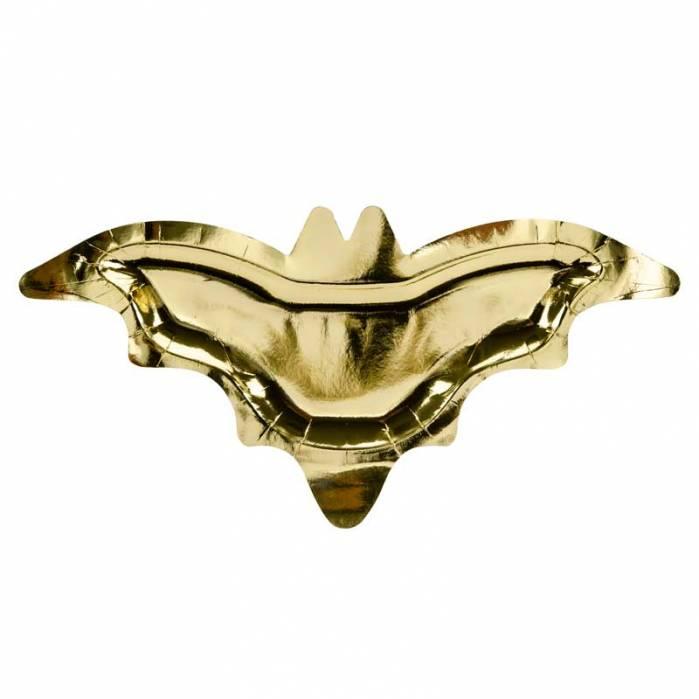 Piatti sagomati pipistrello oro