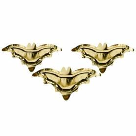 Piatti di carta a forma di pipistrello oro