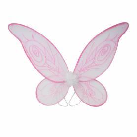 Ali farfalla con glitter fucsia