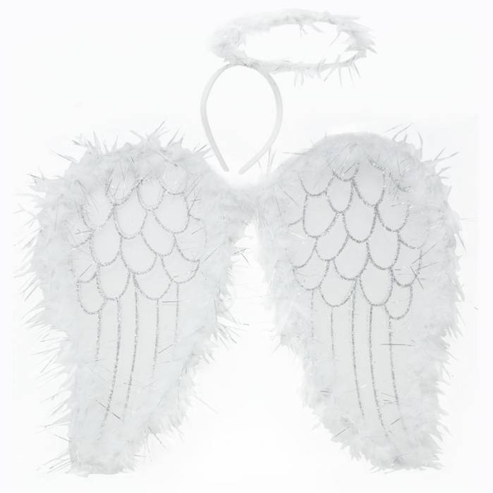 costume angelo ali e aureola.